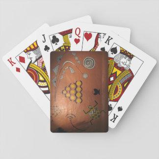 Spielkarten mit afrikanischem Graffiti-Bild