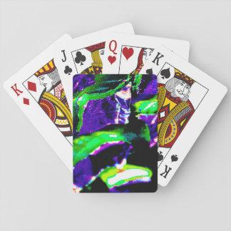 Spielkarten mit buntem abstraktem Bild