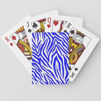 Spielkarten mit Kobalt Zebraentwurf