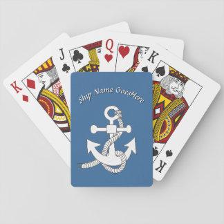Spielkarten - Schiffs-Anker mit Namen