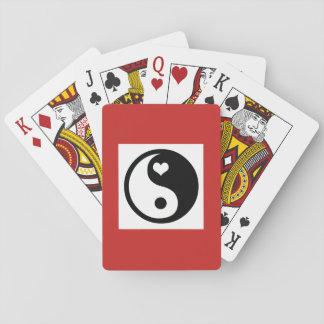 Spielkarten, Standardindex stellt YING UND YANG Spielkarten