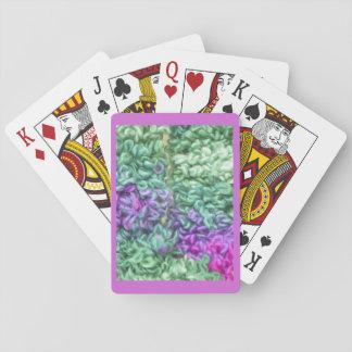 Spielkarten, Strick, lila Pokerdeck