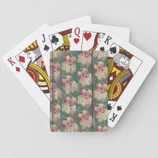 Spielkarten Vintagen antiken hölzernen