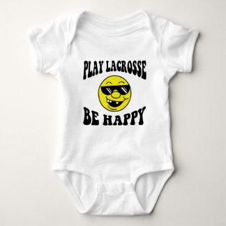 SpielLacrosse ist glücklich Baby Strampler