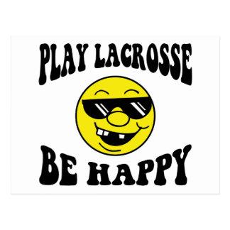SpielLacrosse ist glücklich Postkarte