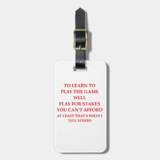 Spielspieler Gepäckanhänger