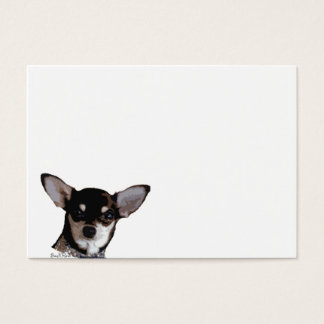 Spielzeug-Chihuahua-Digital-Kunst-Hundegesicht Visitenkarte