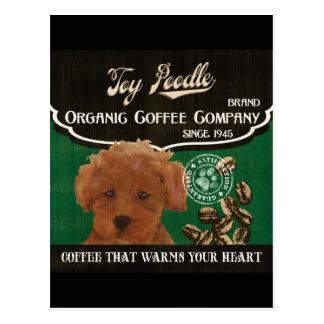 Spielzeug-Pudel-Marke - Organic Coffee Company Postkarte