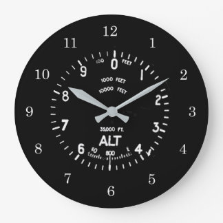 Spifire Höhenmesser-Uhr Große Wanduhr