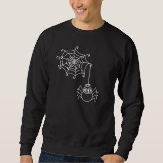 Spinne Mittwoch und Spinne auf schwarzem Halloween Sweatshirt