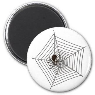 Spinne Spinnennetz Runder Magnet 5,1 Cm