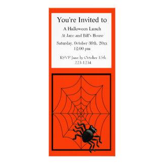 Spinne und Netz Halloween Werbekarte