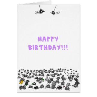 Spinnen-Geburtstags-Karte Grußkarte