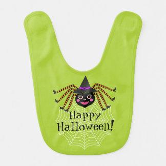 Spinnen-Hexe glückliches Halloween Lätzchen