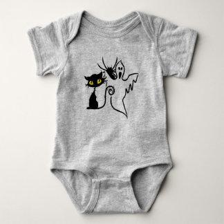 Spinnen-, Kätzchen-u. Geist-Baby-Jersey-Bodysuit Baby Strampler