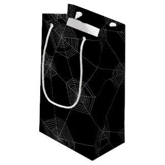 Spinnen-Netz-schwarze Geschenk-Tasche Kleine Geschenktüte