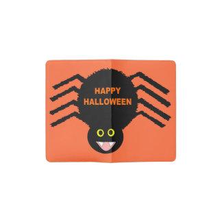 Spinnen-Notizbuch-Abdeckung Halloweens schwarze Moleskine Taschennotizbuch