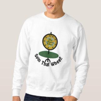 Spinnen Sie dieses Rad Besticktes Sweatshirt