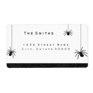 Spinnen und StreifenAdressen-Etikett Versandetiketten