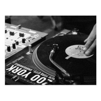 Spinnendes Vinyl 1 DJ Postkarte