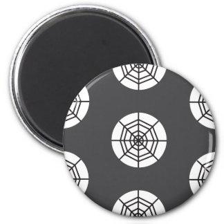 Spinnennetz auf grauem Hintergrund Halloween Runder Magnet 5,7 Cm