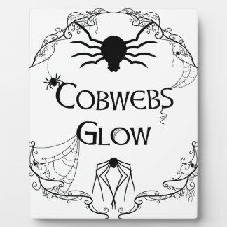 Spinnennetz-Glühen Fotoplatte