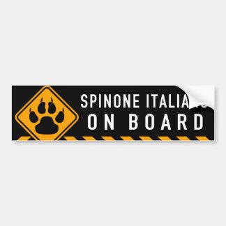 Spinone Italiano an Bord Autoaufkleber