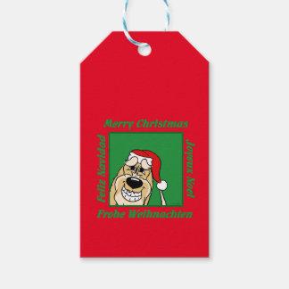 Spinone Italiano hell Weihnachten Geschenkanhänger
