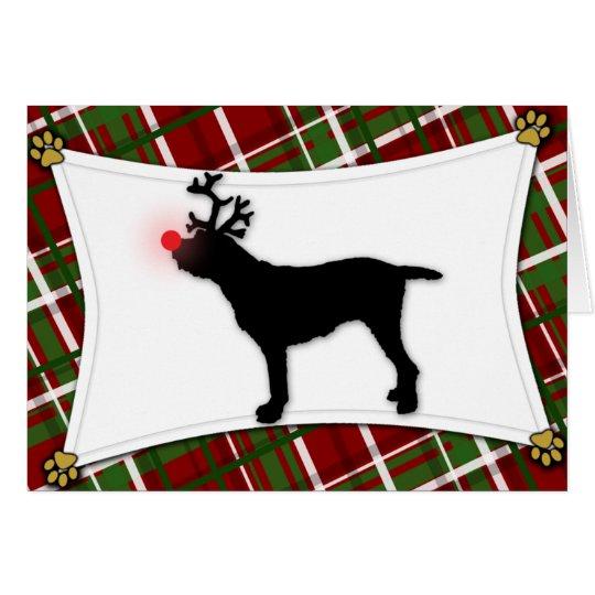 Spinone Italiano Ren-Weihnachtskarte Grußkarte