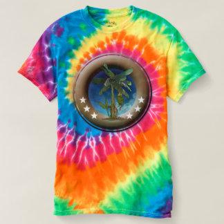 Spiral T-Shirt im Batik für Mann, Wirbel,