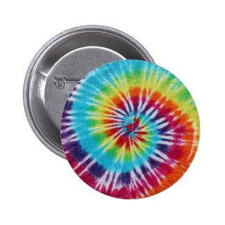 Spirale d'arc-en-ciel badge rond 5 cm