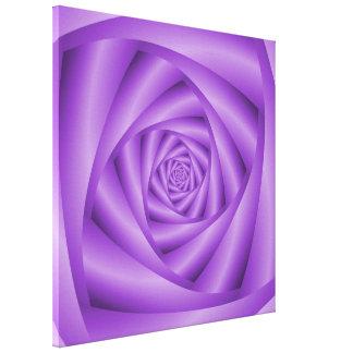 Spirale de violette d'impression de toile toile tendue sur châssis