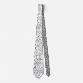 Spirale rundet Schwarzweiss-Ingenieur-Thema Krawatte