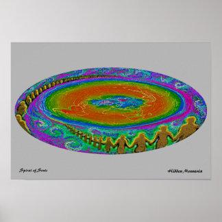 Spirale von Soulen Poster