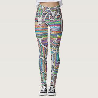 SpiralRainbowLeggings Leggings