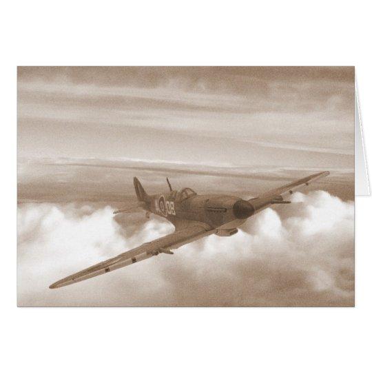 Spitfire-Überschrifts-Zuhause Grußkarte