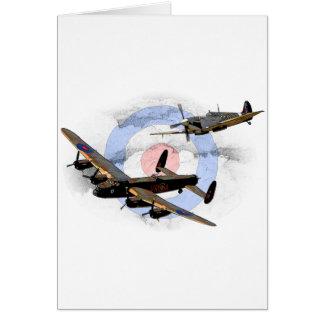 Spitfire und Lancaster Karte