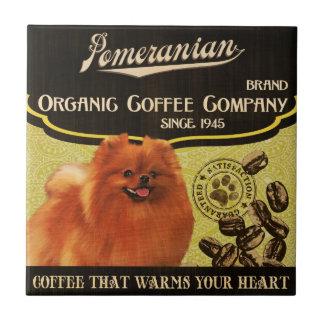 Spitz-Marke - Organic Coffee Company Kleine Quadratische Fliese