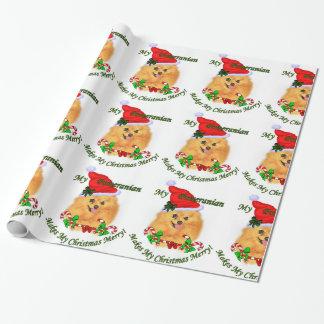 Spitz-Sankt-Weihnachten Geschenkpapier