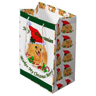 Spitz-Weihnachten Mittlere Geschenktüte