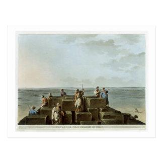 Spitze der ersten Pyramide von Gizah, überziehen 4 Postkarte