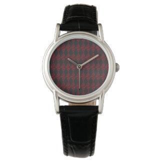 Spitze-Diamant-Rauten-Muster Armbanduhr