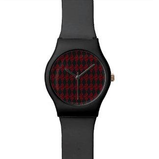 Spitze-Diamant-Rauten-Muster Uhr