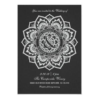 Spitze-Mandala-Hochzeits-Einladungen Karte