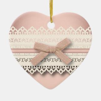 Spitze-Rosabogen Kawaii Prinzessin girly schicker Keramik Ornament