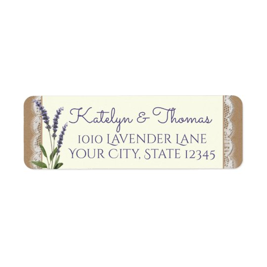 Spitze-und Lavendel-Adresse