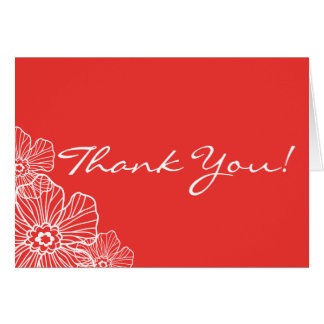 Spitzen- Blumen danken Ihnen Rot der Karte