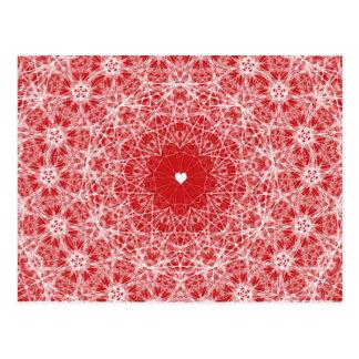 Spitzen- Herz-Valentinsgruß Postkarte