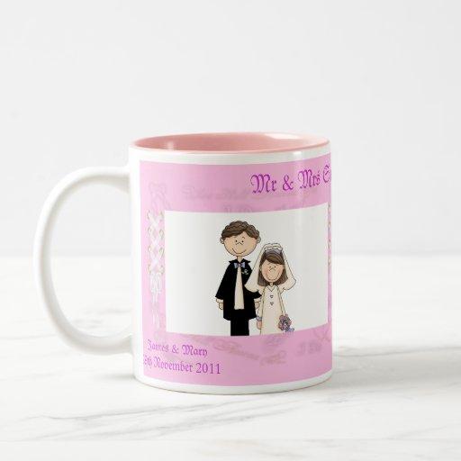 Spitzen- Hochzeit Teetassen