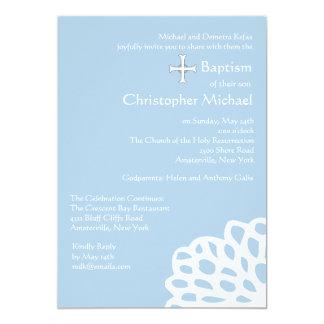 Spitzen- weiße religiöse Einladung